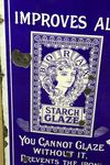 Antique  Borax Glaze Starch Pictorial Enamel Sign
