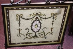 Antique and Rare Bronze Framed Fire Screen