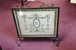 Antique and Rare Bronze Framed Fire Screen