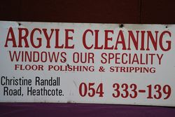 Argyle Cleaning Advertising Sign