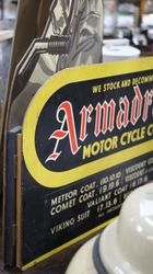 Armadrake Motor Cycle Coats Hard Board Sign