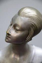 Art Deco Bronze Group of Diana the Huntress