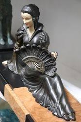 Art Deco Fan Lady C1930