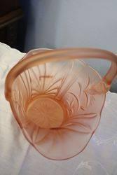 Art Deco Glass Basket