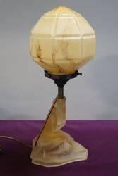 Art Deco Glass Figure With Genuine Glass Shade