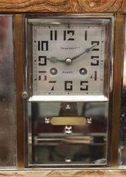 Art Deco Marble 8 Day Mantel Clock