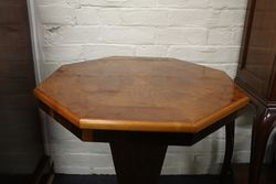 Art Deco Octagonal Hall Table On Square Foot