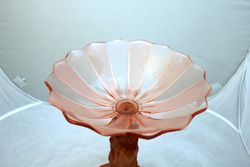 Art Deco Pink Glass Tazza