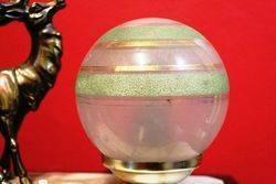 Art Deco Spelter + Marble Table Lamp