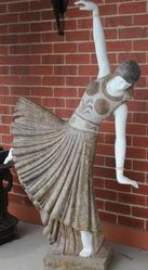 Art Deco Style  after Chiparus  Carved  Marble Dancer
