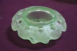 Art Deco Uranium Glass Fruit Girl 3 Pieces Float Bowl C1930