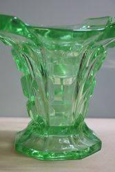 Art Deco Uranium Glass Vase + Organiser