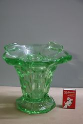 Art Deco Uranium Glass Vase + Organiser
