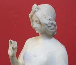 Art Nouveau Alabaster Figure of The Flower Seller