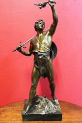 Art Nouveau Bronze Figure of a Gladiator