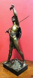 Art Nouveau Bronze Figure of a Gladiator