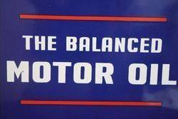 Atlantic The Balanced Motor Oil Enamel Advertising Sign