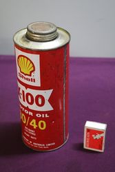 Australian Shell Quart X100 3040 Motor Oil Tin