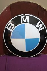 BMW Logo Convex Enamel Sign