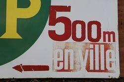 BP Enamel Advertising Sign