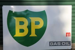 BP Gas Oil  Enamel Advertising Sign