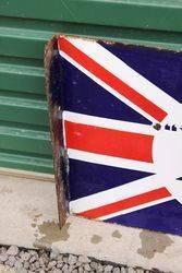 BP Union Jack Post Mount Enamel Sign
