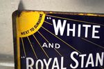 BP White May Double Sided Enamel Sign Arriving Nov