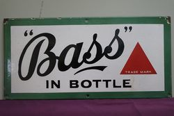 Bass Enamel Advertising Sign