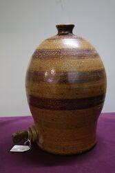 Bendigo Pottery Stoneware Demijohn With 8 pout