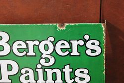 Bergers Paints Double Sided Post Mount Enamel Advertising Sign