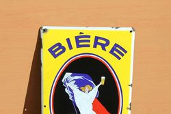 Biere Sedan Pictorial Enamel Sign