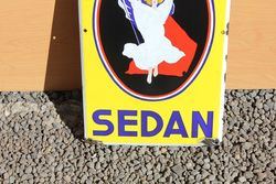 Biere Sedan Pictorial Enamel Sign