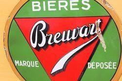 Bieres Brewart Enamel Advertising Sign