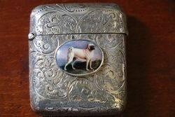Birmingham Silver 1888 Vesta Case