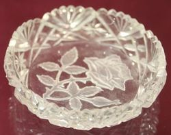 Birmingham Silver Coaster with Glass Insert 1922