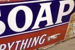 Borax Dry Soap Enamel Sign