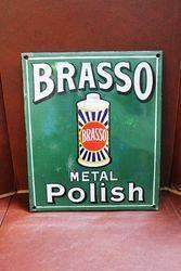Brasso Metal Polish Enamel Sign