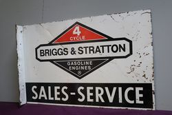 Briggs and Stratton SalesService Double Sided Tin Advertising Sign