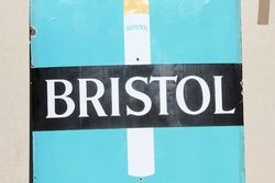 Bristol Tipped Cigarettes Large Enamel Advertising Sign