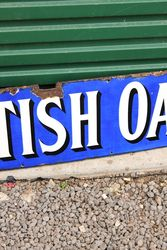 British Oak Enamel Advertising Sign