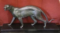 Bronze Big Cat   Unsigned  but from the Bugattiesque School C1920