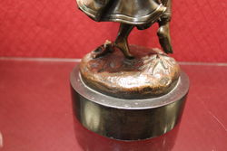 Bronze Figure of Tambourine Player
