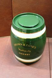 Brown And Panks Porcelain Sherry Dispenser