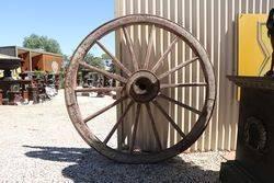 Buggy Wagon Wheel Wood Spokes Iron Rim Amish Carriage