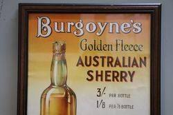 Burgoyneand39s Genuine Golden Fleece  Framed Advertising Poster