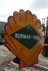 Burmah Shell Double Sided Enamel Advertising Sign