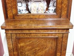 Burr Walnut Bookcase with Single Glazed Upper Door