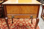 Burr Walnut Sewing Table