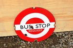 Bus Stop Enamel Sign