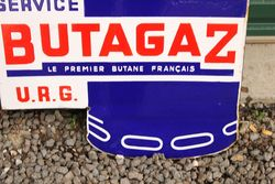 Butagaz Die Cut Enamel Post Mount Sign
